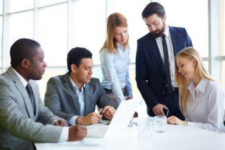 Team discuss business planning definition